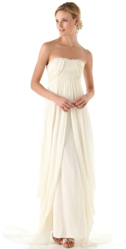 Temperley London Long Mirage Strapless Dress