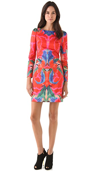 Temperley London Lotus Print Shift Dress