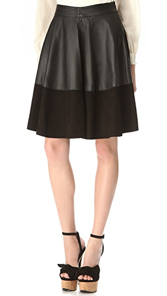 Temperley London Olivia Leather Skirt