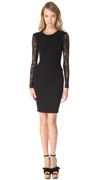 Temperley London Stretch Lace Knit Dress