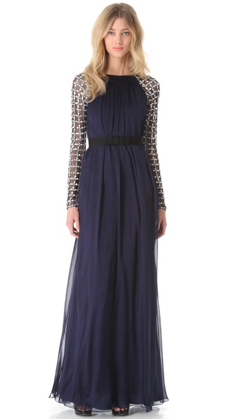 Temperley London Long Angeli Lattice Dress