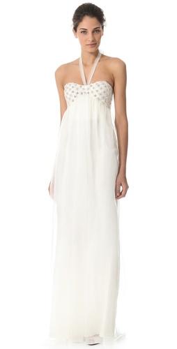 Temperley London Long Angeli Strapless Dress