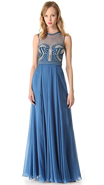 Temperley London Long Laurel Sleeveless Dress