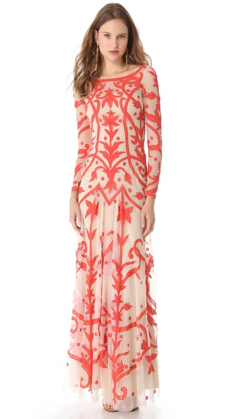 Temperley London Long Francine Tattoo Dress