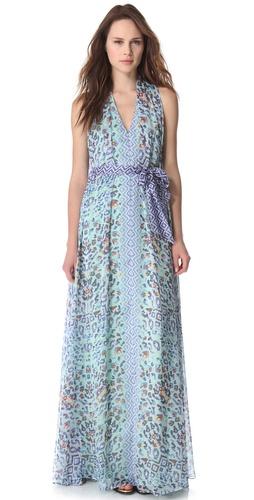 Temperley London Long Leopard Tile Dress
