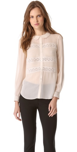 Temperley London Pleats & Lace Shirt