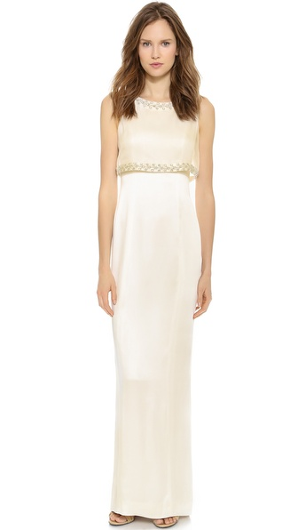 Temperley London Long Aralia Backless Dress