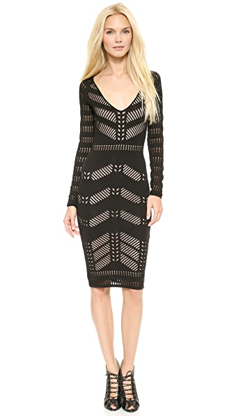 Temperley London Emblem Sleeved Dress