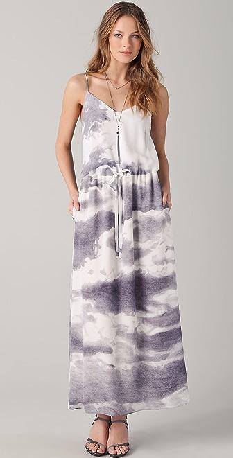 Tess Giberson Cloud Print Maxi Dress