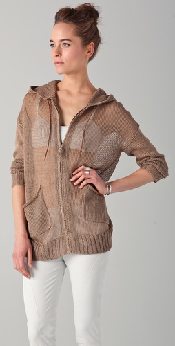 Tess Giberson Slouchy Backless Hoodie