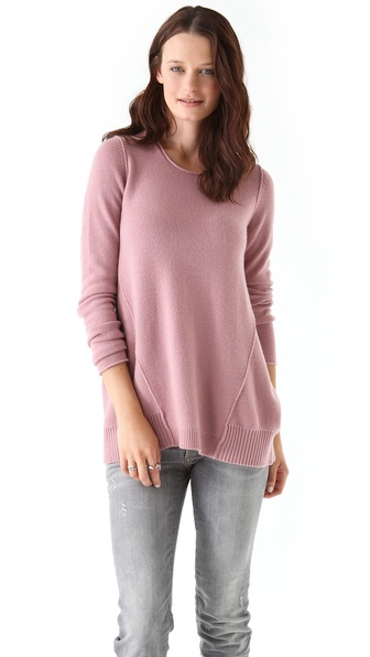 Tess Giberson Side Drape Cashmere Sweater