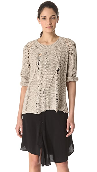 Tess Giberson Disintegrating Cable Sweater