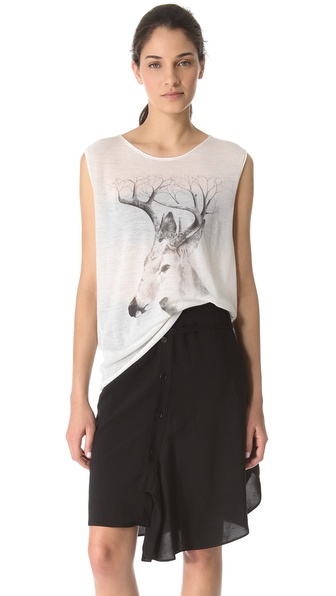 Tess Giberson Sleeveless Deer Cashmere Tank