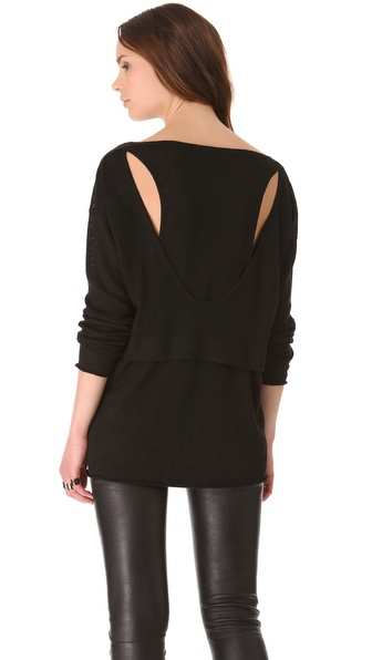 Tess Giberson Droop Cutout Sweater