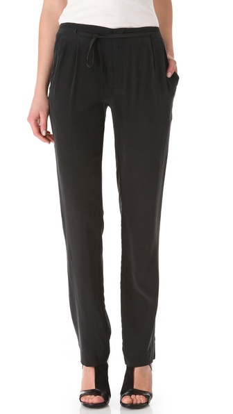 Tess Giberson Pleated Silk Pants