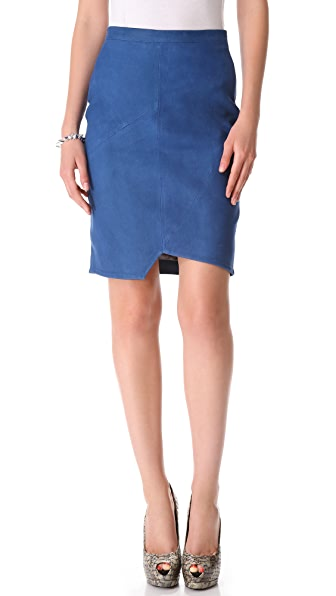 Tess Giberson Leather Pencil Skirt