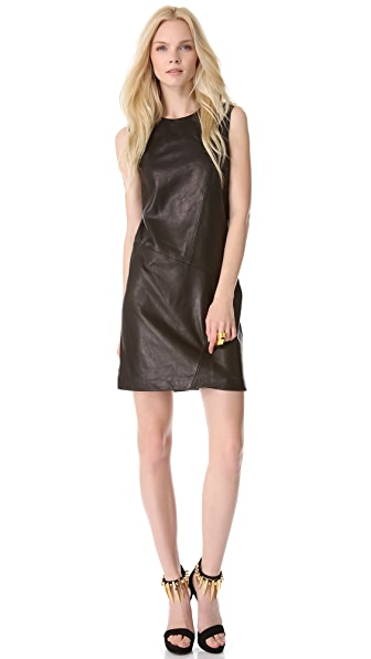 Tess Giberson Pieced Leather Dress