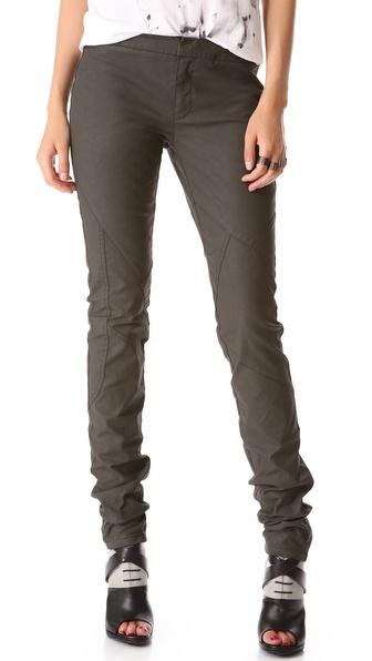 Tess Giberson Coated Moto Skinny Jeans