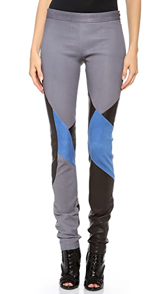 Tess Giberson Colorblock Leather Leggings