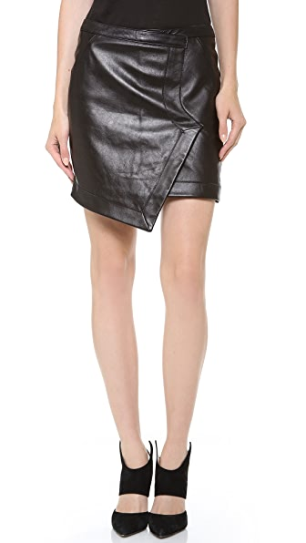 Tess Giberson Leather Wrap Skirt
