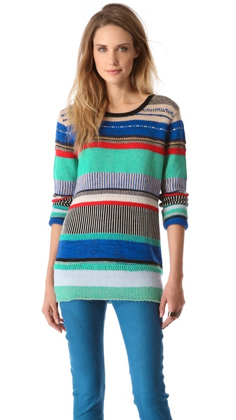 Tess Giberson Multi Stripe Sweater