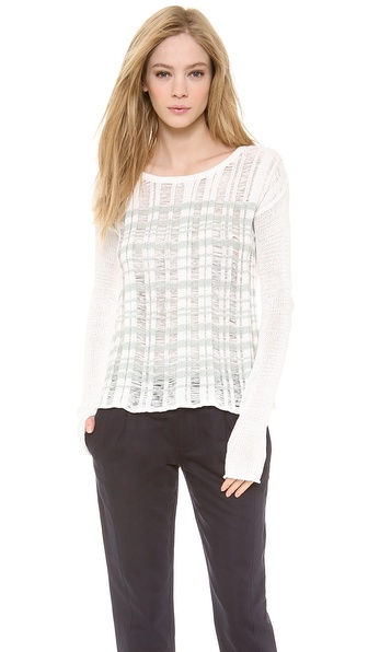 Tess Giberson Drop Stitch Striped Sweater