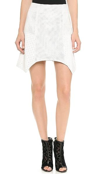 Tess Giberson Remixed Leather Skirt