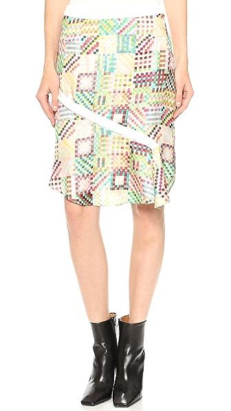 Tess Giberson Remix Gingham Print Skirt