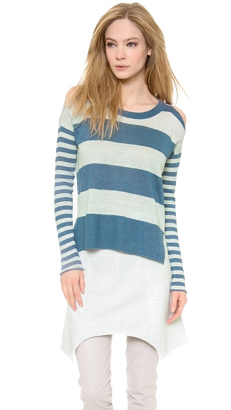 Tess Giberson Mixed Stripe Slouchy Sweater