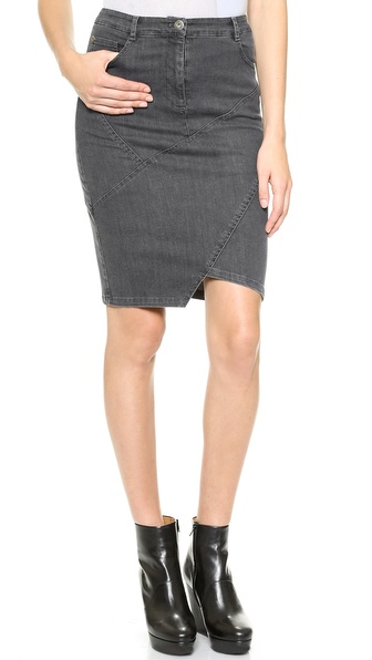 Tess Giberson Pieced Denim Skirt
