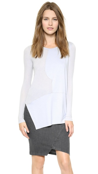 Tess Giberson Pieced Silk Sweater