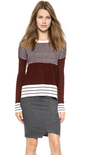 Tess Giberson Striped Birdseye Sweater