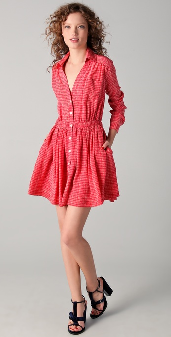 Thakoon Addition Button Front Shirtdress