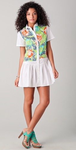 Thakoon Addition Hawaiian Print Shirtdress
