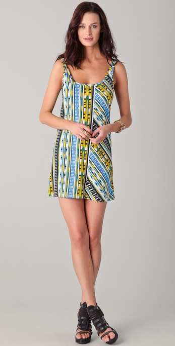 Thakoon Addition Ikat Print Short Tank Dress