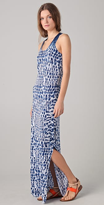 Thakoon Addition Long Tie Dye Knit Tank Dress