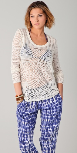 Thakoon Addition Crochet Sweater