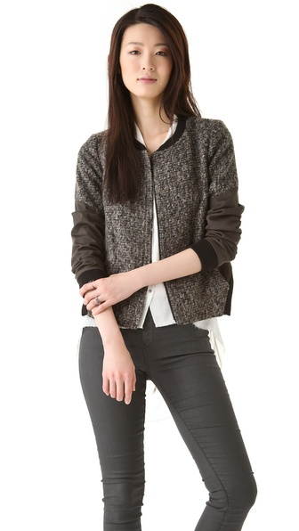 Thakoon Addition Boiled Tweed Jacket