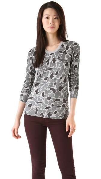 Thakoon Addition Camo Print Knit Top