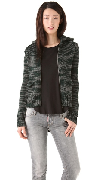 Thakoon Addition Knit Zip Cardigan