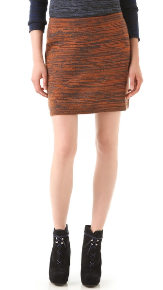 Thakoon Addition Marled Knit Miniskirt