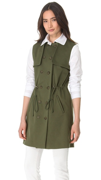 Thakoon Addition Drawstring Trench Coat