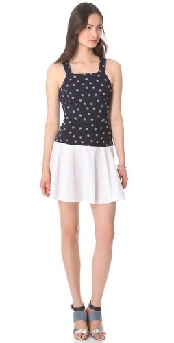 Thakoon Addition Dot Sweatshirt Tank Dress