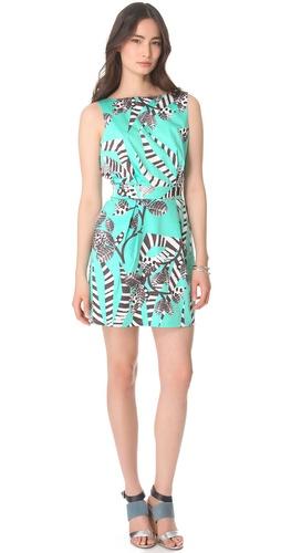 Thakoon Addition Zebra Backless Mini Dress