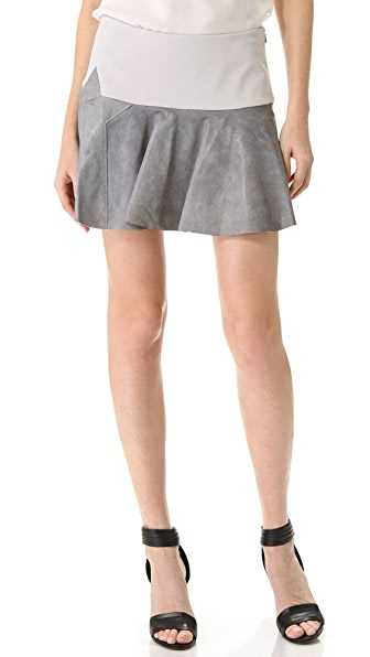 Thakoon Addition Star Leather Trimmed Skirt