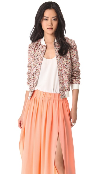Thakoon Addition Liberty Print Bomber Jacket