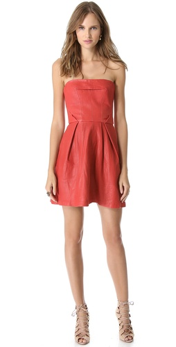 Thakoon Addition Strapless Leather Dress at Shopbop / East Dane