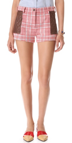 Thakoon Addition Quilted Leather Shorts at Shopbop / East Dane