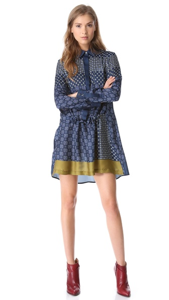 Thakoon Addition Gathered Front Shirtdress