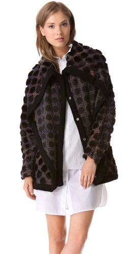 Thakoon Addition Layer Dotted Plaid Coat at Shopbop / East Dane